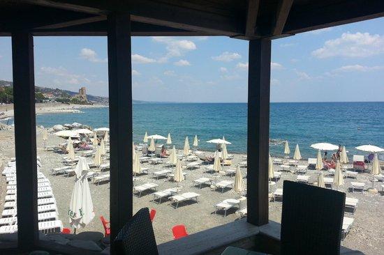 Roseto Capo Spulico, Italien: Vista terrazzo ristorante La Vela