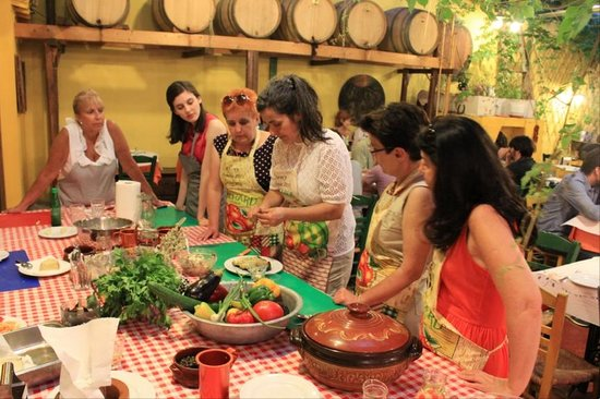 Athens Cooking Day Tours : Klimataria Cooking Lesson with Maria