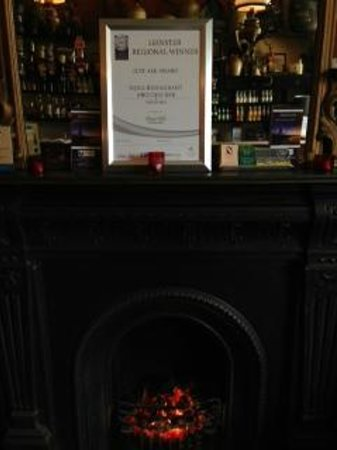 Roches Bar: Just Ask Restaurants Association Award May 2013, pride of place over fireplace