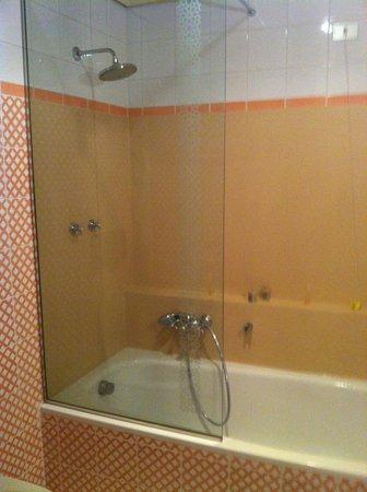 Hotel Excelsior: baignoire et douche