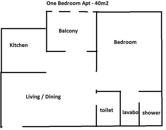 Allamanda: One bedroom apt