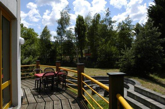 Zug Youth Hostel: Terrasse
