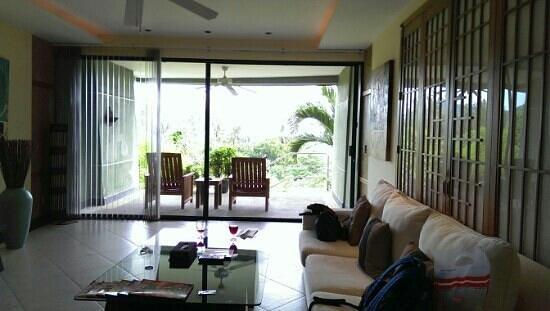 The Aspasia Phuket: The living room and balcony