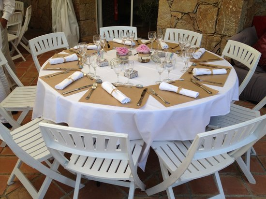 Le Clos des Escapades : la décoration des tables