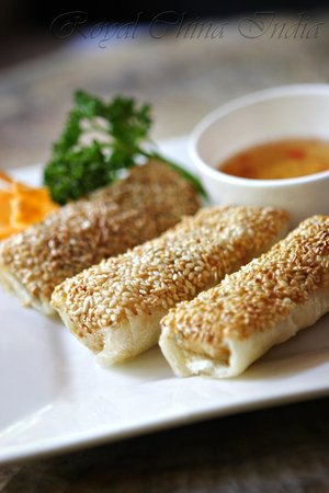 Royal China: Sesame Paper Prawn Roll