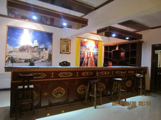 Qinghai Lake Zhaxi Holiday eHome Hotel: Hotel reception
