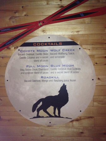 Coyote Moon Bar and Grill: Cocktail list