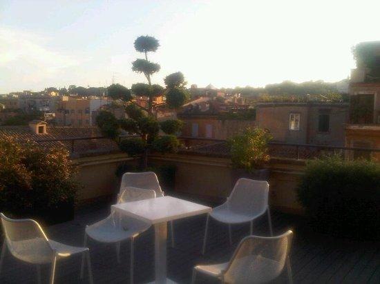 Finestra su Trastevere : la terrasse