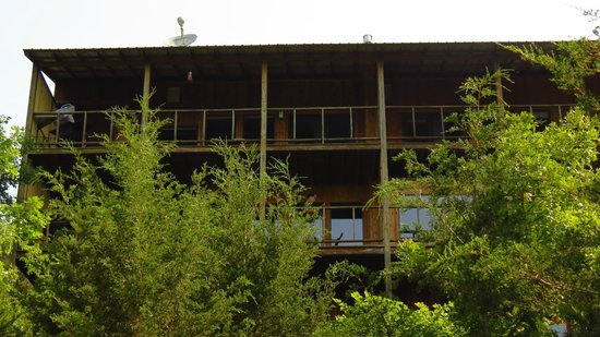 Beaver Lakefront Cabins: View of the suites from below.