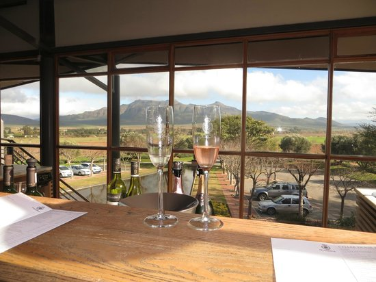Graham Beck Robertson Estate: View while tasting the stars!