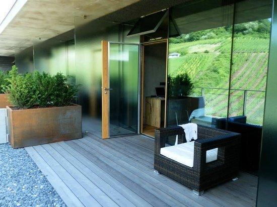 Hotel de l'Ecluse: Terrasse de la chambre