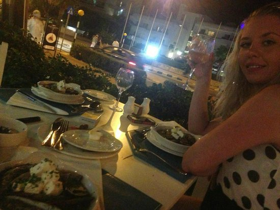 Aliathon Holiday Village: Dinner at the Greek restaurant