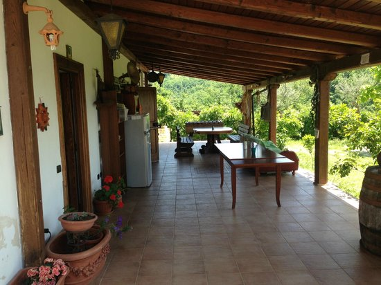 Italy Farm Stay: room patio