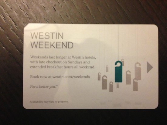 Westin Trillium House Blue Mountain: They don't participate - but give out keys advertising the promo