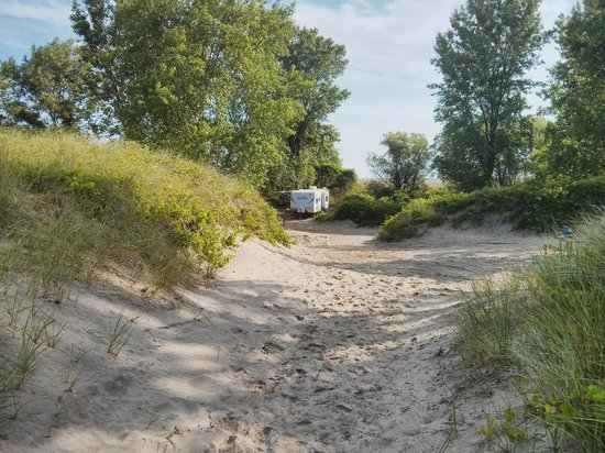 Long Point Provincial Campground: campsite location