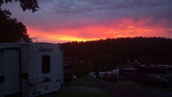 Hershey RV & Camping Resort: Beautiful sunset