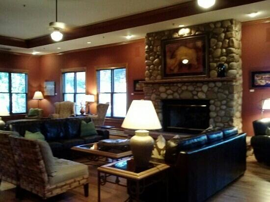 The Bradley Boulder Inn: fireplace