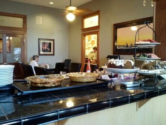 The Bradley Boulder Inn: quiche, bunt cake, and fruit and more