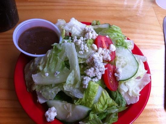 The Coop Deck: Tasty Side Salad with blue cheese