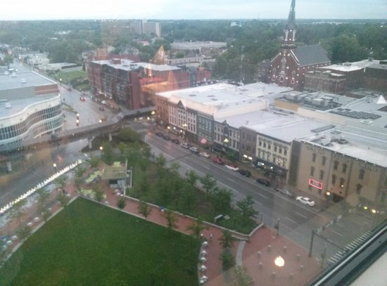 Hilton Lexington Downtown: View of Triangle Park from 16th floor
