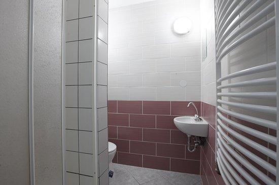 HoBar - the hostel bar : 8 bed Dorm's private bathroom