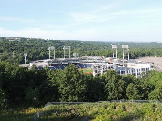 SpringHill Suites Scranton Wilkes-Barre: View of Ballpark from across the street from the hotel