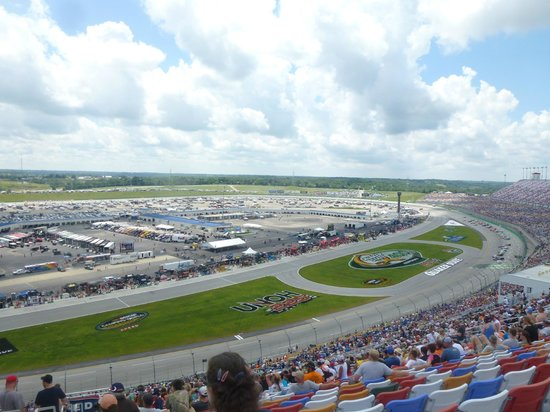 Kentucky Speedway from top tier in Quaker State Tower