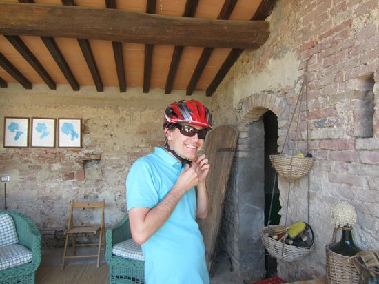 Agriturismo Marciano: Getting ready for biking