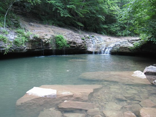 Alabama: Cool refreshing pool and waterfall at the bottom of the canyon!