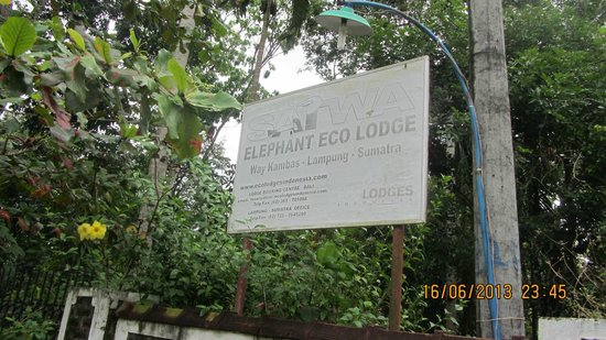 Satwa Elephant Eco Lodge : Entrance