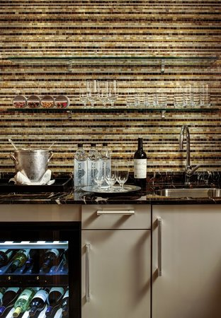 Lotte New York Palace Wet Bar Setup In A Towers Corner Suite