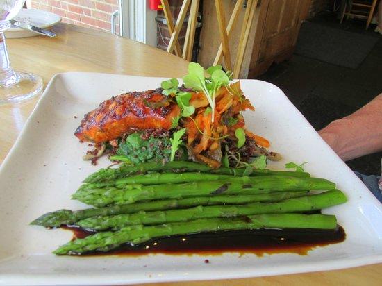 Simon Pearce: Salmon and asparagus