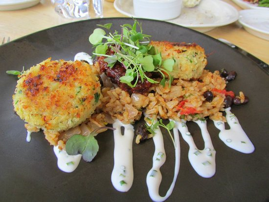 Simon Pearce: Rock and Jonah crabcakes, southwest style