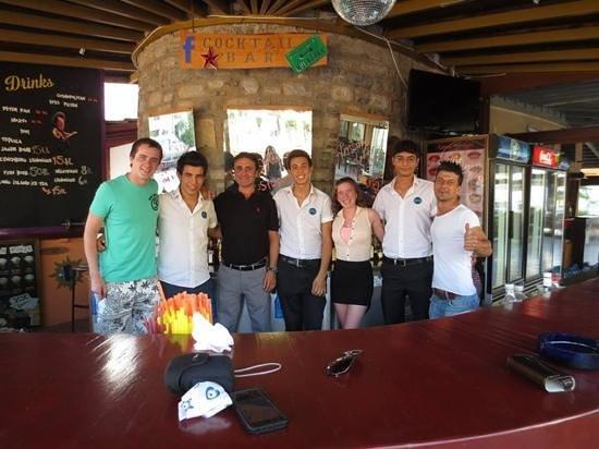 Hotel Bagevleri: hotel/bar staff on our final day!