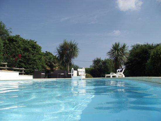 Ti-Bigoudene : piscine au milieu du parc