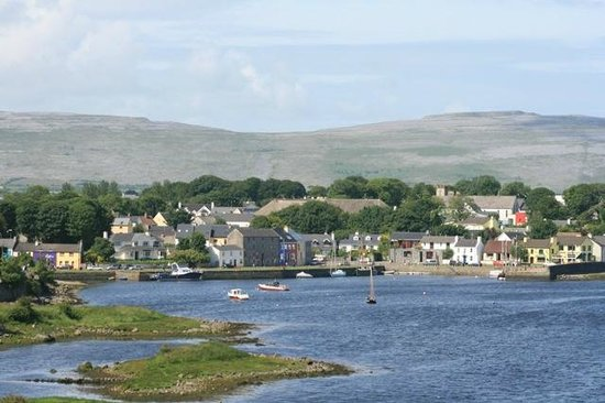 Kinvara Guesthouse: Kinvara and harbor from Dunguire Castle.
