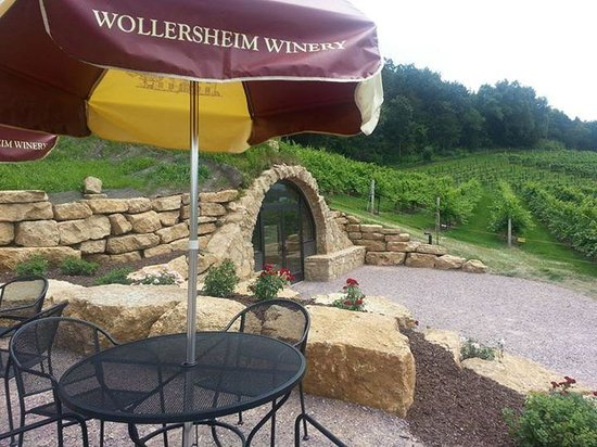 Wollersheim Winery: View from upper terrace