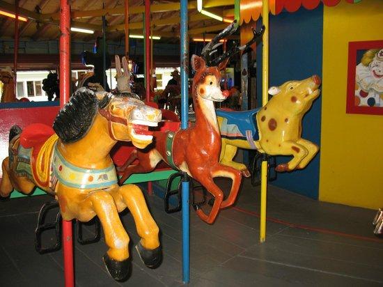 sylvan beach amusement park metal carousel creatures