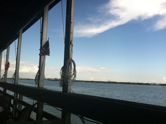 Backwater's on Sand Key: View from the patio deck