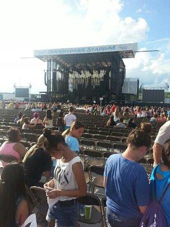 Hersheypark Stadium: Section D Row 51 great seats!