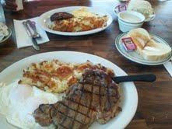 The Breakfast Nook : Rib eye Steak & Egg special