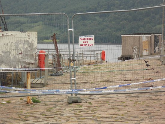 The Inveraray Inn: A big let down,Inveraray pier is a ruin and dangerous.