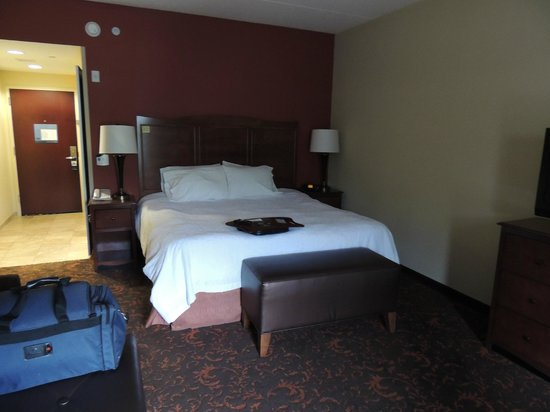 Hampton Inn & Suites Woodstock: King bed