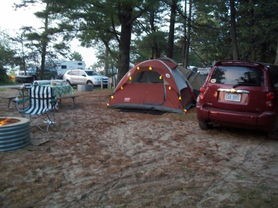 Wilderness State Park: Our tent & camp site