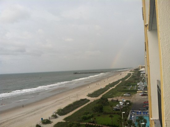Sun N Sand Resort: View from our balcony