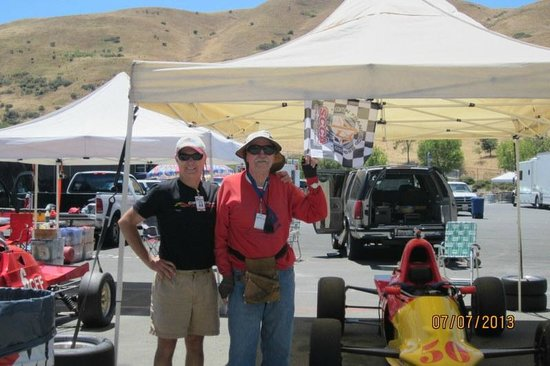 Sonoma Raceway: Dave & Henry w Victory Flag for Race #1