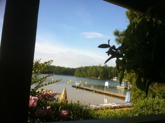 Lake Tiak-O'Khata Resort: View from outside dining porch