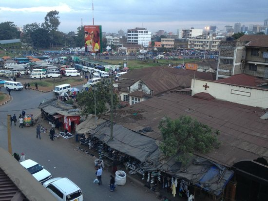 Nairobi Transit Hotel: View from room of surrounding market
