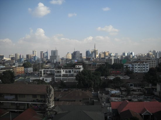 Nairobi Transit Hotel: View from room of city