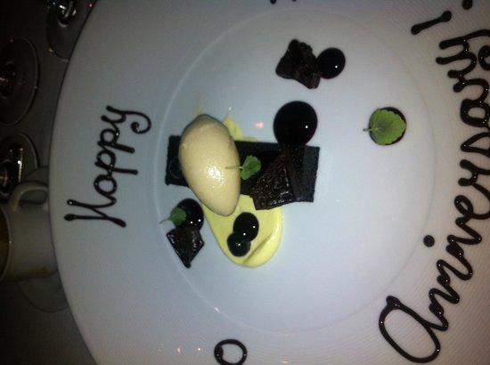 Acquerello: Dessert for our 50the anniversary
